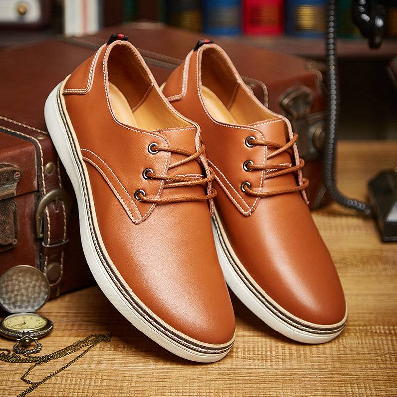 Spring Autumn Men Shoes Geniune Leather Fashion Comfortable Business Office Men Flats Footwear Big Size 47 Shoes Men