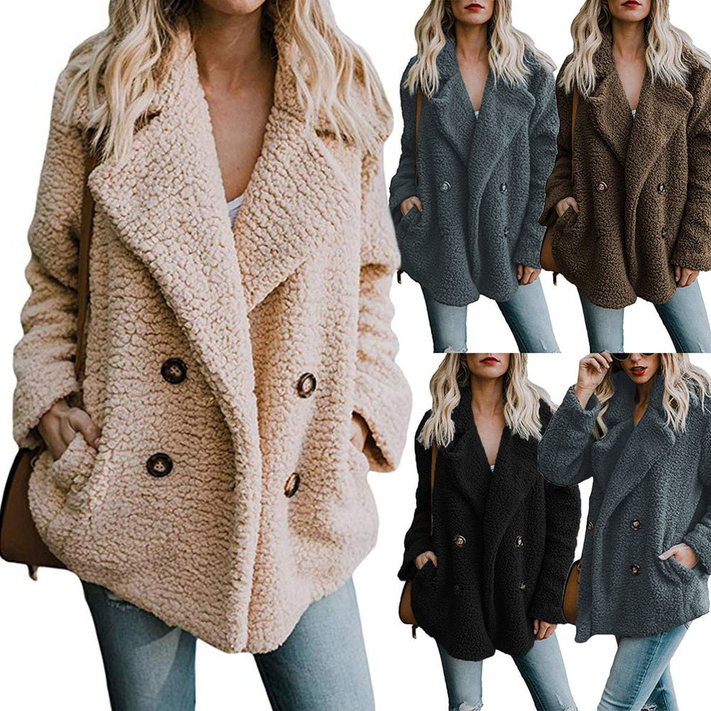Women Fluffy Shaggy Cardigan Lady Coats