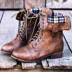 Woman Retro Fashion Martin Boots
