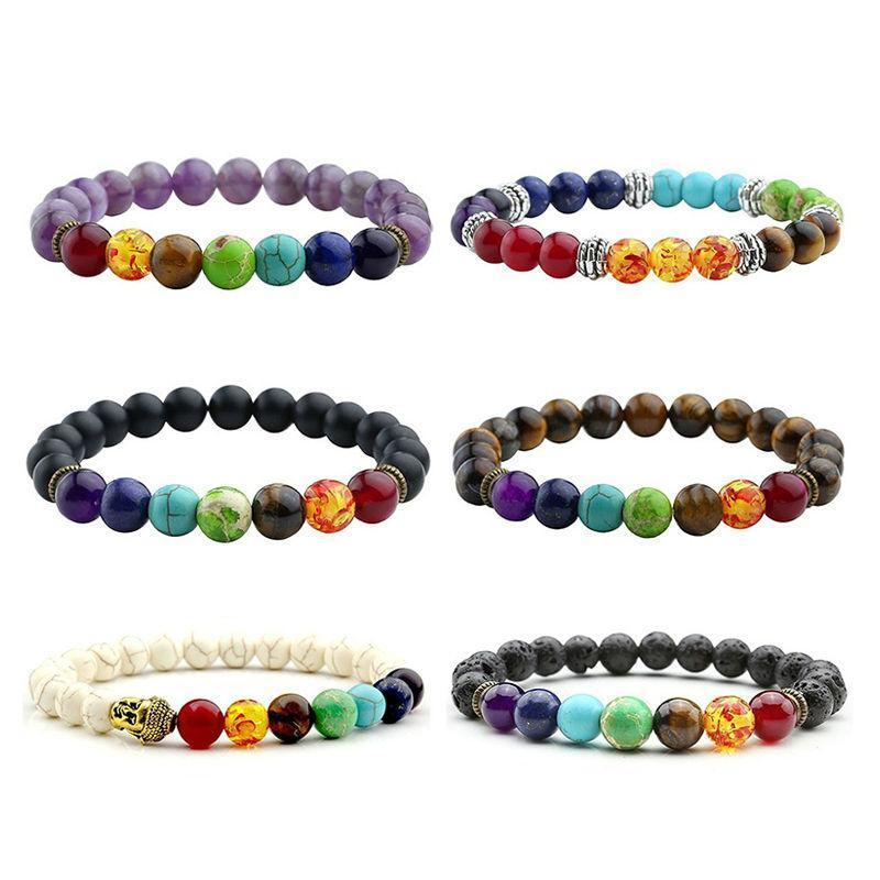 bracelet mala real chakra volcanic lava and f with stones e yoga s dp men meditation j jewelry com healing women amazon