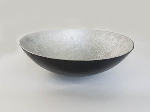 Hammered Metal & Leather Bowls