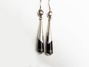 Sterling Silver Ebony Earrings