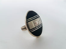 Sterling Silver Ebony Ring