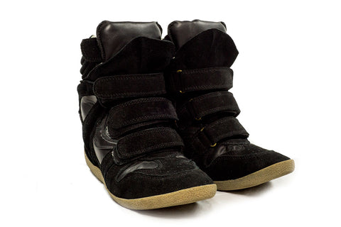 Isabel Marant Black Bekett Sneakers