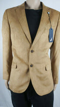 $295 Nautica Mens Blazer Beige Two-Button Faux-Suede Sport Coat Lined Jacket 40R - evorr.com