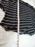 We The Free Women Long Sleeve Cowl Black Striped Side Knot Blouse Top Size S - evorr.com