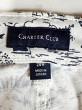New Charter Club Women White Jeans Denim Bristol Capri Cropped Printed Plus 20W - evorr.com
