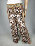 New INC INTERNATIONAL CONCEPTS Women's Brown Scarf Print Casual Pants Size M - evorr.com