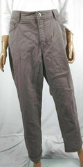 Style&Co. Women Brown Slim Leg HighRise Cotton Jeans Denim Tummy Control Plus 16W - evorr.com