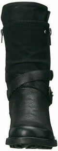 Carlos by Carlos Santana Women Sawyer Leather Almond Toe Black Boots Size US 7 M - evorr.com