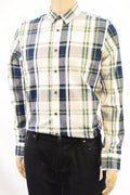 New American Rag Cie Men's Long-Sleeves Button Front Beige Plaid Dress Shirt M - evorr.com