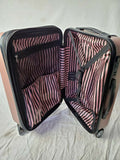 "London Fog South bury 21"" Hard Carry On Expandable Luggage Suitcase Pink - evorr.com"