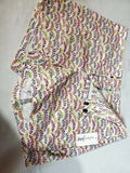 New Maison Jules Women White Multi Printed Shorts Casual Flat Front Size 4 - evorr.com