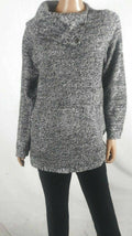 Style&co. Women Long Sleeve Gray Envelope Neck Pullover Pocket Sweater Plus 16W - evorr.com