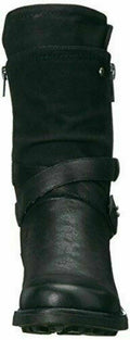 Carlos by Carlos Santana Women Sawyer Leather Almond Toe Black Boots Size US 5 M