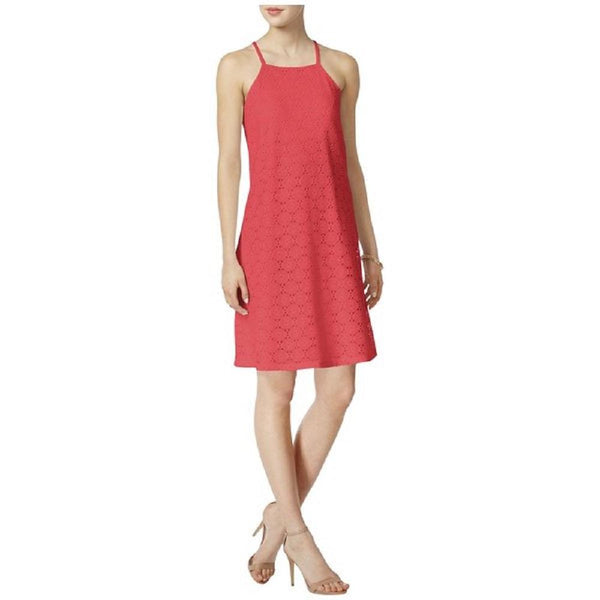 $89 New Nine West Women's Lace SunDress Orange Peach Straps Dress Size 16