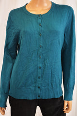 Charter Club Women's Teal Green Button Down Cardigan Top X-large XL