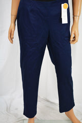 Charter Club Women Stretch Blue Classic Fit Slim-Leg Ankle Pants 6
