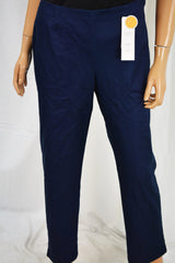 Charter Club Women Stretch Blue Classic Fit Slim-Leg Ankle Pants 10