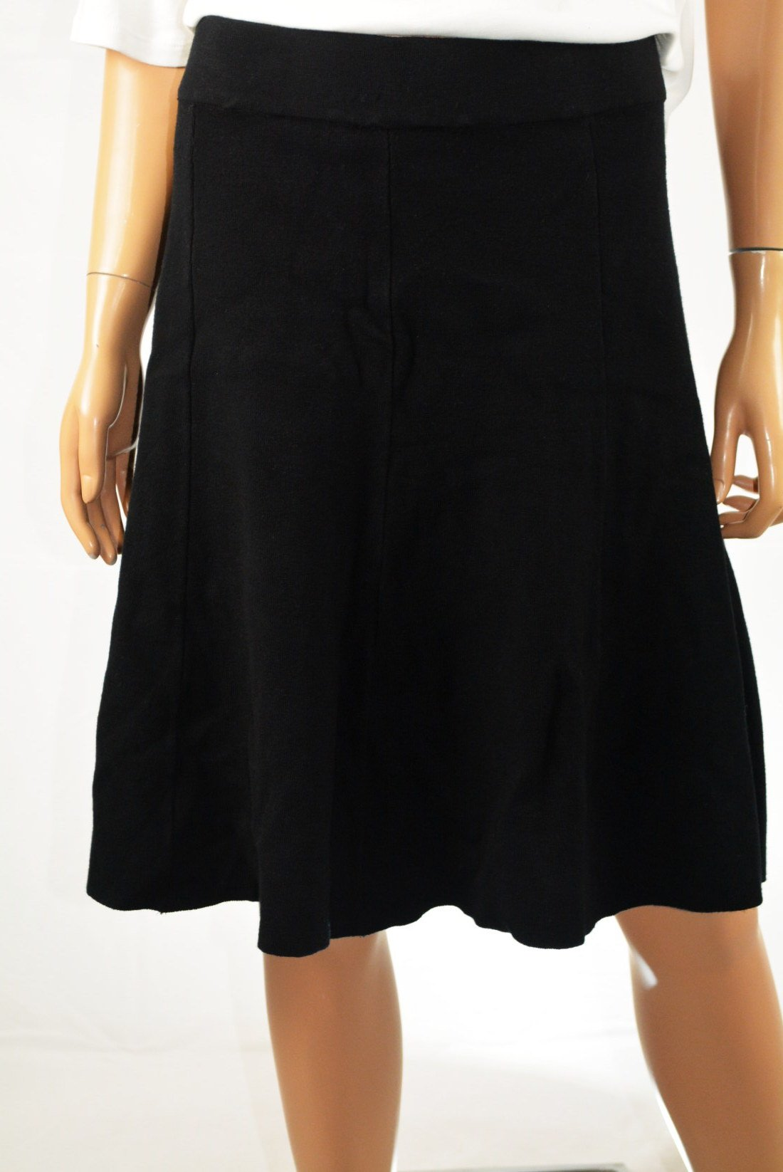 Alfani Women's Black Pull On Knit Fit&Flare A-Line Sweater Skirt  L - evorr.com