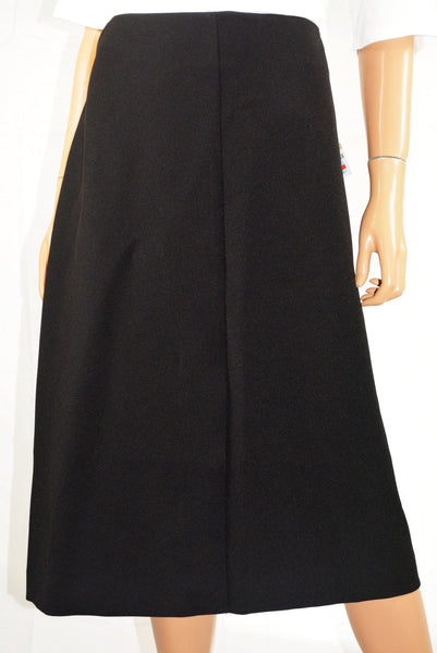 Alfani  Women's Stretch Black Solid Front-Slit Wear To Work  A-line Skirt 12 - evorr.com