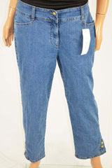 Charter Club Women's Blue Tummy-Control Capri Cropped Denim Jeans 10