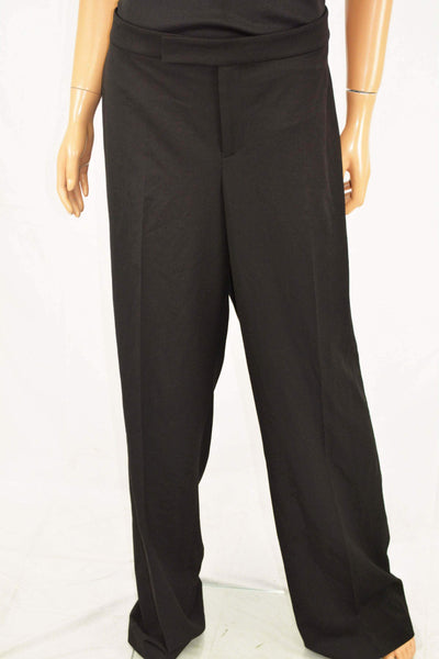 Lauren Ralph Lauren Women's Black Flare Leg Dress Pants Plus 16W