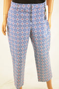 Charter Club Women's Blue Newport Slim Leg Cropped Casual Pants 14