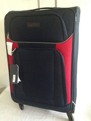 $360 New Nautica Oceanview 28'' Luggage Spinner Suitcase Blue Red Soft