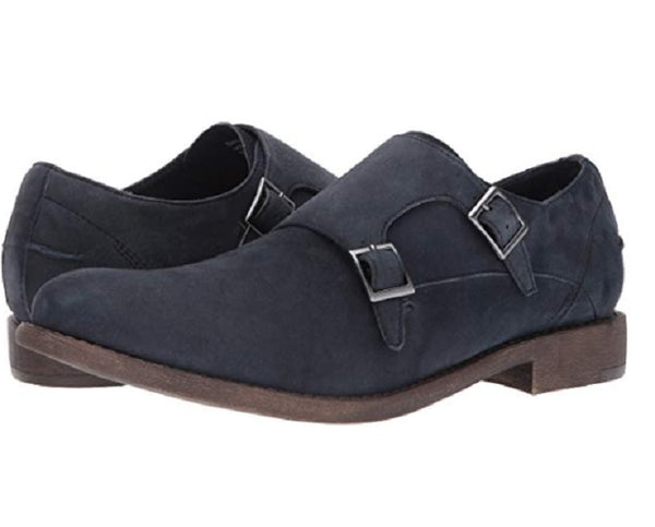 New Kenneth Cole Reaction Men's Blue Monk-Strap Loafer Suede Shoes Size US 9 M