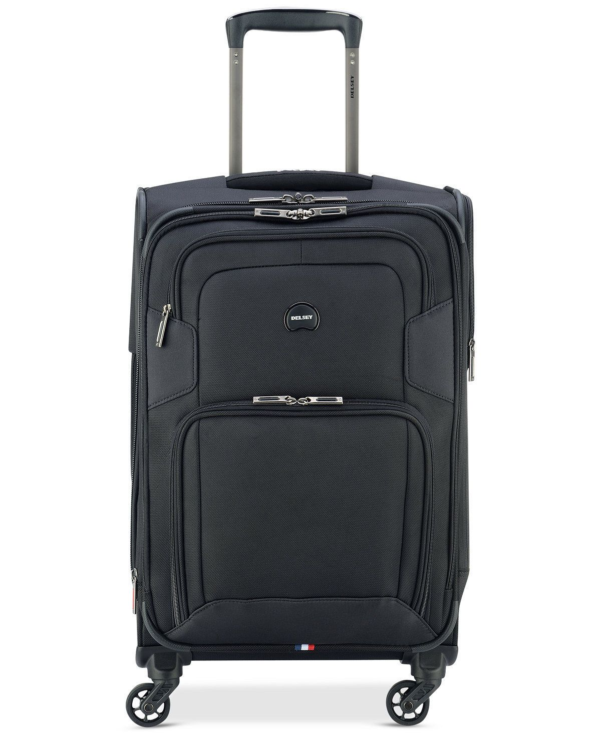 "$280 NEW Delsey OPTI-MAX 21"" Expandable Spinner Carry On Suitcase Luggage Black"