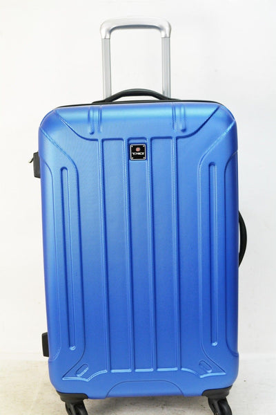 NEW TAG Laser 24'' Hard Spinner Lightweight Luggage Travel Suitcase Blue