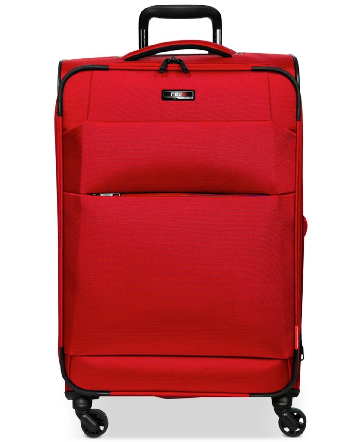 "$340 NEW Revo Airborne 29"" Softside Expandable Spinner Suitcase Luggage Red"