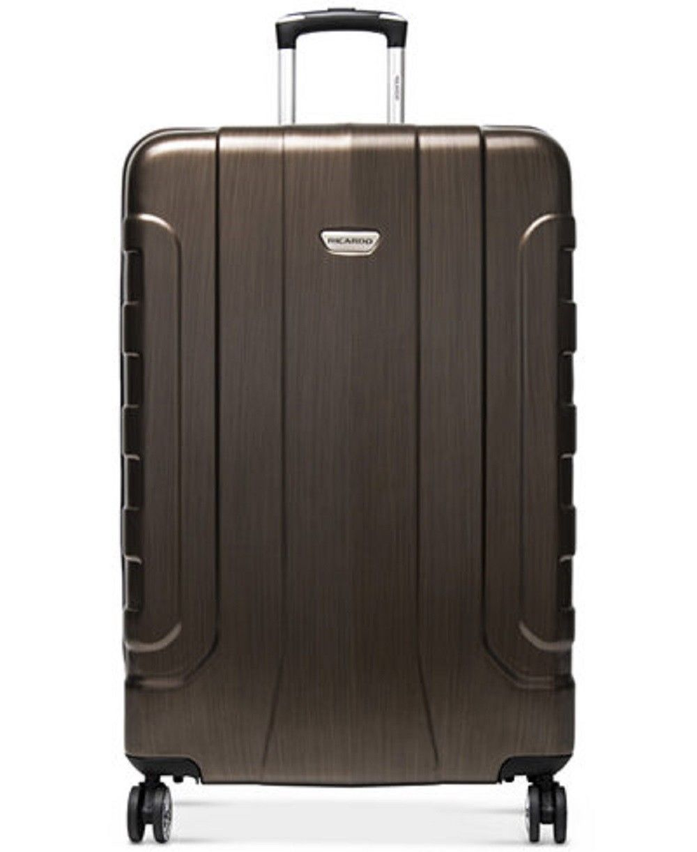 "$400 New Ricardo Pacifica 29"" Hardside Expandable Spinner Suitcase Luggage Brown"
