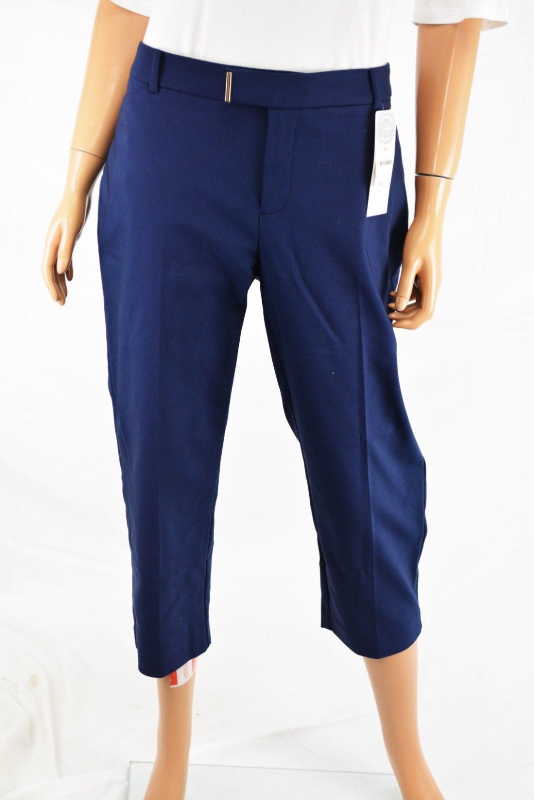 Charter Club Women's Stretch Blue Classic Fit Mid Rise Capri Cropped Pant 12