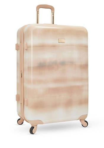 "$400 Vince Camuto Perri 28"" Latte Expandable Hard Spinner Suitcase Luggage Rose"
