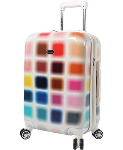 "$300 Steve Madden Hard Carry On 20"" Suitcase Expandable Cubic Luggage Multicolor"