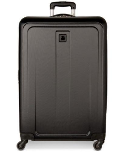 "$280 NEW DELSEY Free Style 2.0 29"" Expandble Spinner Hard Suitcase Luggage Black"