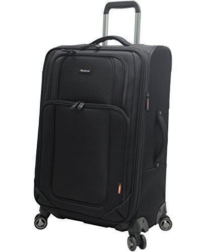 "$380 New Pathfinder Presidential 25"" Expandable Spinner Suitcase Luggage Black"