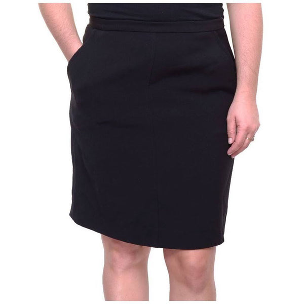 Anne Klein Women's Black 2-Pockets Pull-On Mini Wear To Work A-Line Skirt 8 - evorr.com