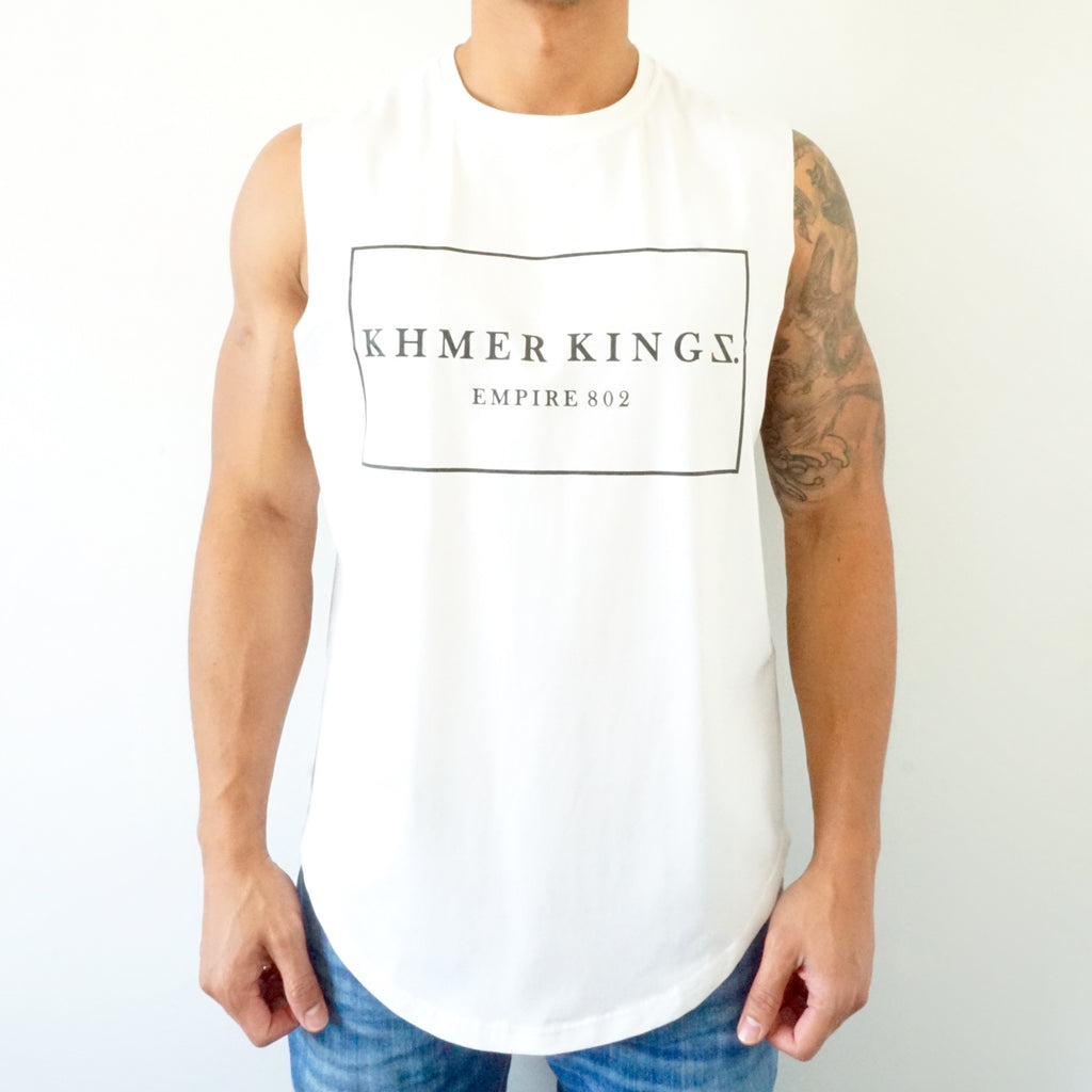 White Royal Muscle Tee