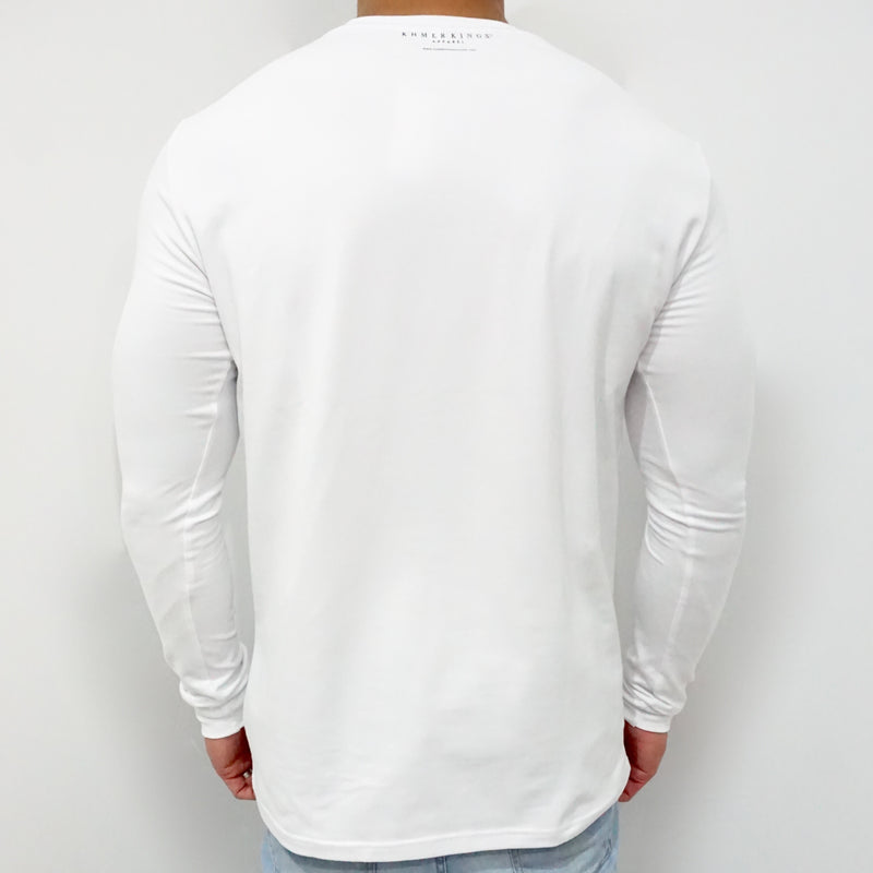 White KK EMPIRE 802 Long Sleeve Tee