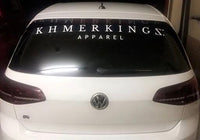 White Vinyl Car Decal