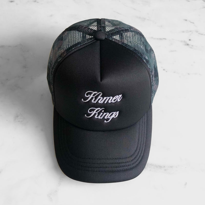 Black/Camo Trucker Hat