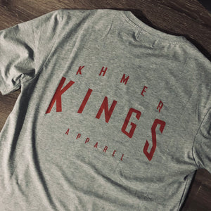Grey Warped Logo Tee