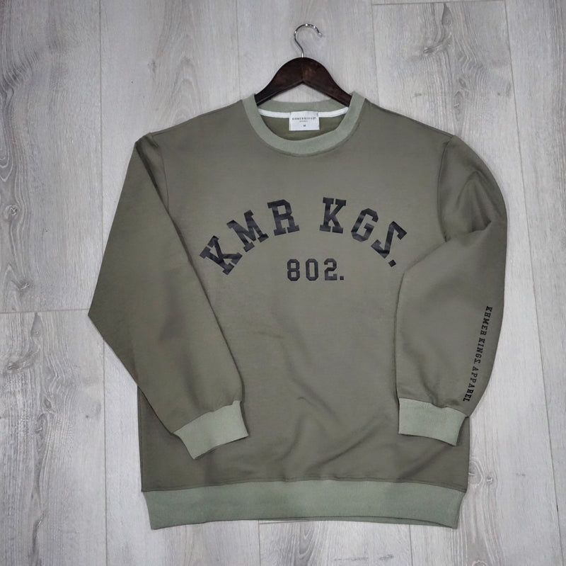 Army Green KMR KGS Logo Sweater