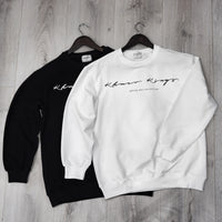 White Signature Logo Sweater