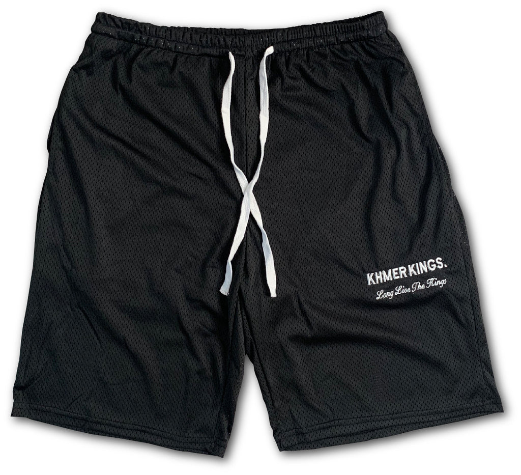 Khmer Kings Mesh Shorts (Black)