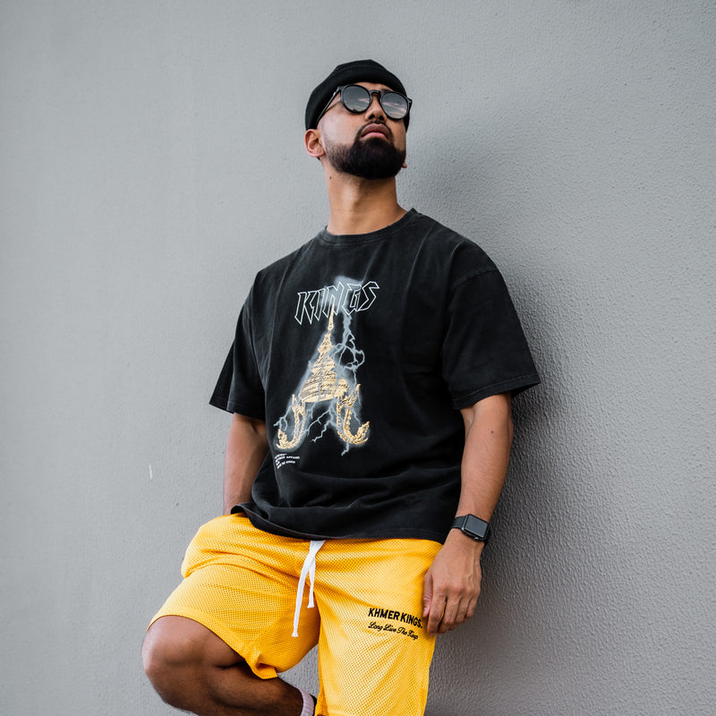Khmer Kings Mesh Shorts (Yellow)
