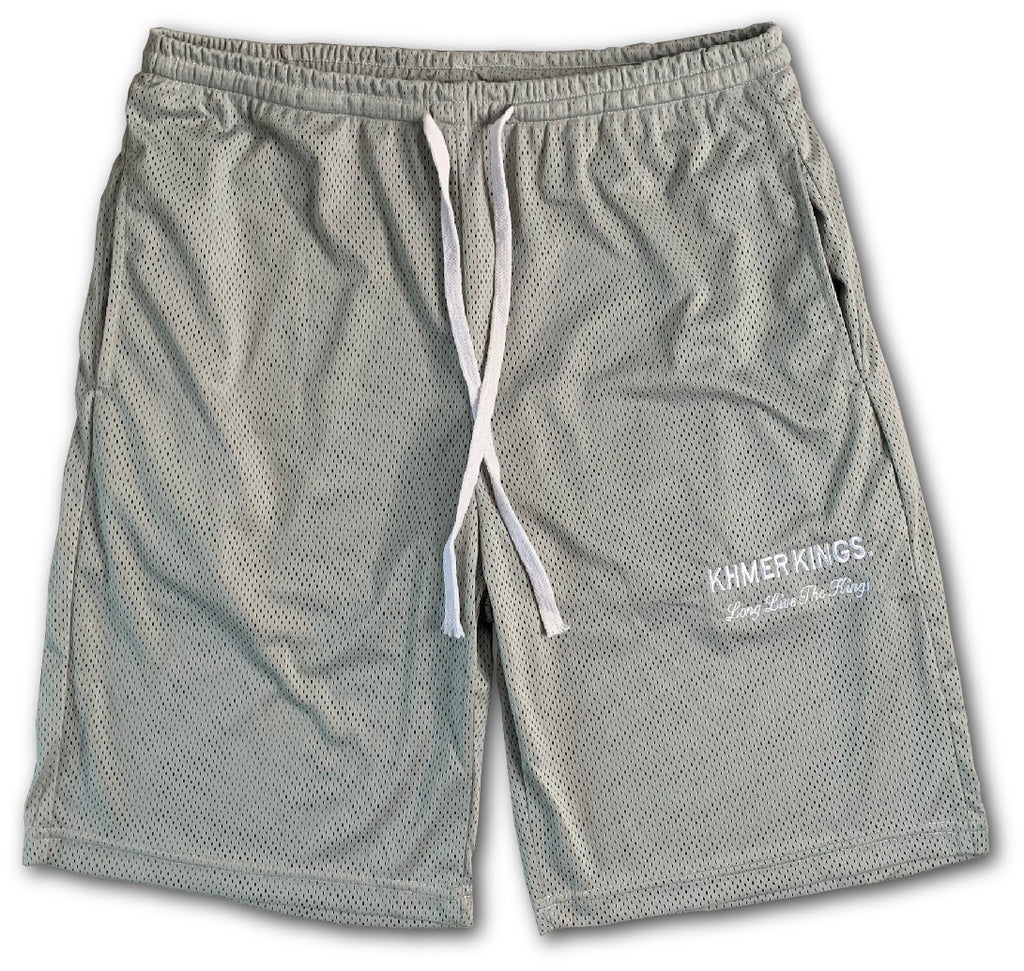 Khmer Kings Mesh Shorts (Grey)